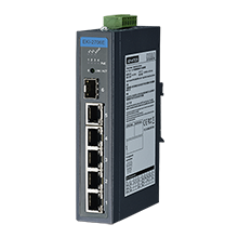 4FE+1GE+1G SFP Unmanaged Industrial PoE Switch