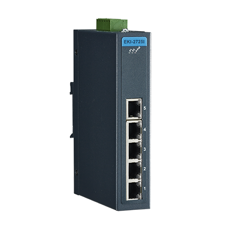 5-port Ind. Unmanaged GbE Switch (Green)
