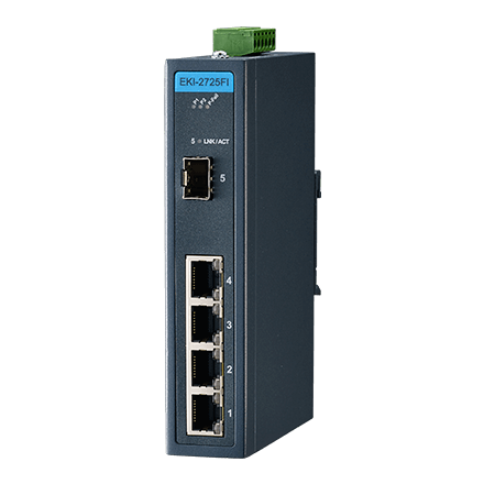4 GE + 1 SFP Ind. Unmanaged Switch W/T