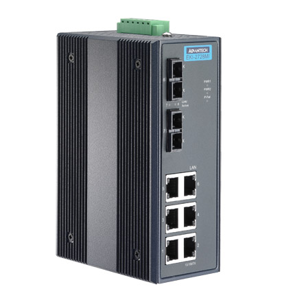 6G+2G SM Unmanaged Ethernet Switch with Wide Temperature