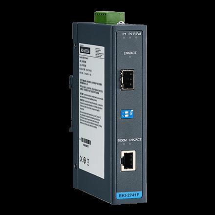 10/100/1000T (X) to SFP Gigabit Industrial Media Converter