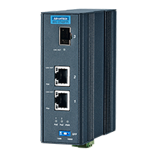 2 Port GbE PoE to SFP Fiber Media Converter