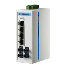 ProView 4-port 10/100M with 2x Multi Mode ST Type Industrial Switch, Extreme Temp -40~75℃