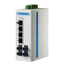 ProView 5-port 10/100M with 2x Single Mode ST Type Industrial Switch, Extreme Temp -40~75℃
