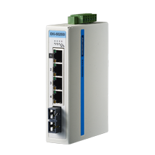 ProView 4-Port 10/100Mb +1 Single Mode SC - Unmanaged Industrial Switch w Diagnostics, Extreme Temp -40~75℃