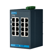16-port Entry Level Managed Switch Supporting EtherNet/IP, Extreme Temp
