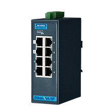 8 Fast Ethernet Industrial Managed Switch with EtherNet/IP, Extreme Temperature