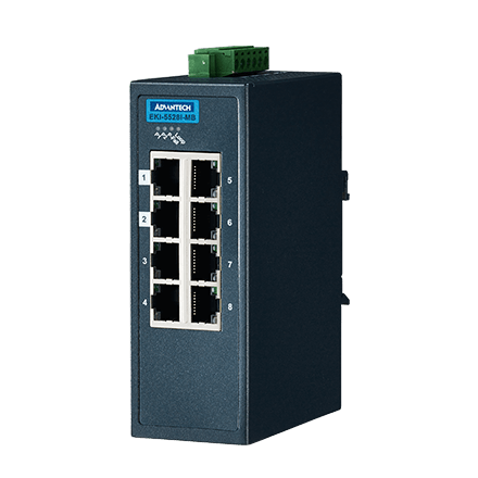 8FE Managed Ethernet Switch support Modbus/TCP,-40~75℃
