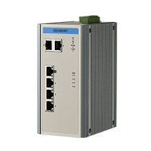 6-Port Fast Ethernet/GbE Combo Industrial Ethernet Switch with PoE & Extreme Temp