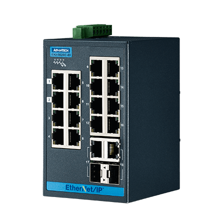 16FE+2G Combo Managed Ethernet Switch support EtherNet/IP