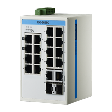 ProView 16-Port Gigabit Industrial Switch with 2x RJ45/SFP Combo, Wide Temperature -10~60℃