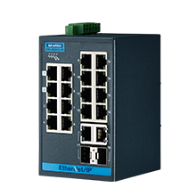 16 + 2G Combo Port Entry Level Managed Switch Supporting EtherNet/IP, Extreme Temp