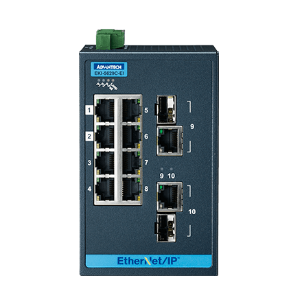 8FE+2G Combo Managed Ethernet Switch support EtherNet/IP