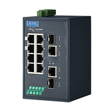 8 Fast Ethernet + 2 Gigabit Individual Managed Switch with PROFINET