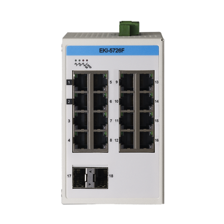 ProView 16-Port Gigabit Industrial Switch with 2x SPF, -10~60C