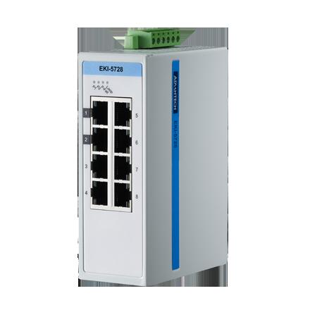 ProView 8-port Gigabit Industrial Switch, Wide Temperature -10~60℃