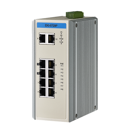 8 GE with PoE + 2GE Industry Switch