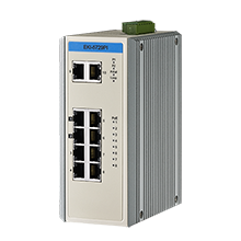 Proview 8 Port PoE GbE + 2 Port GbE Industrial Switch, Extended Temp -40~75℃