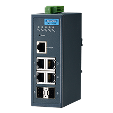 ETHERNET DEVICE, 4FE + 2SFP Managed Ethernet Switch Wide Temp