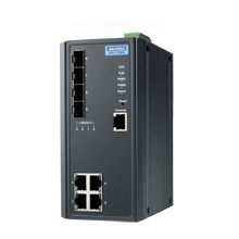 4FE+4G SFP Managed Ethernet Switch, -40~75℃