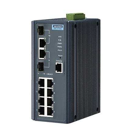 ETHERNET DEVICE, 8G + 2G Combo Managed switch w/Wide temp