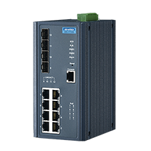 8 Gigabit Ethernet + 4 SFP Managed Switch with POE