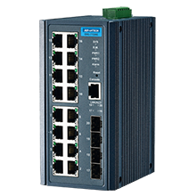16 Fast Ethernet + 4 SFP Managed Ethernet Switch Wide Temperature