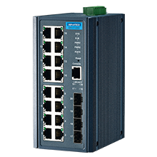 ETHERNET DEVICE, 16G+4SFP Port Managed Ethernet Switch Wide Temp