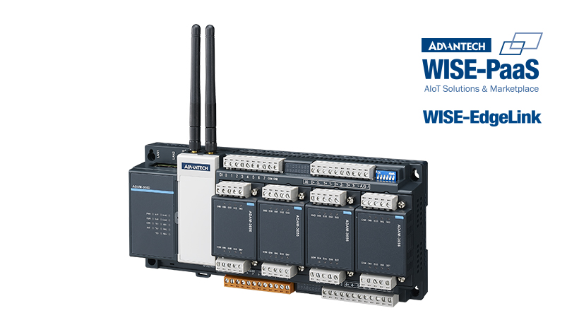 Intelligent Remote Terminal Unit (RTU) with WISE-PaaS/EdgeLink, 8DI/4DO/8AI, 4-Slot IO Expansion