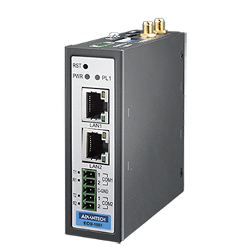 Compact Communication IoT Gateway with WISE-PaaS/EdgeLink, LAN x2, RS-232/485 x2