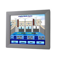 "LCD DISPLAY, 12"" XGA Industrial Monitor with Resistive Touchscreen (RS232&USB)"