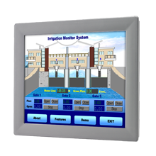 "LCD DISPLAY, 17"" SXGA Ind. Monitor with Resistive Touchscreen (RS232&USB)"
