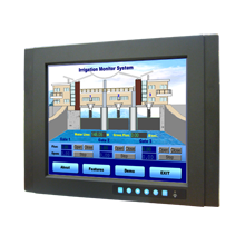 """15"""" XGA Industrial Monitor with Resistive Touchscreen, Direct-VGA, DVI Ports, and Wide Operating Temperature"""