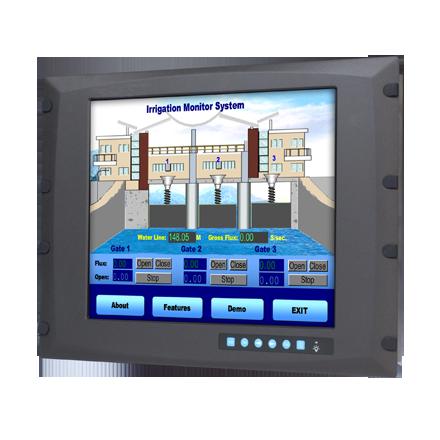"LCD DISPLAY, 8U 17""SVGA WT Ind. Monitor w/Resistive TS(Combo)"
