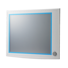 "19"" SXGA LCD Industrial Monitor with Resistive Touchscreen, VGA, DVI, USB"