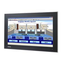 """18.5"""" Industrial Widescreen Monitor with PCT Touchscreen"""