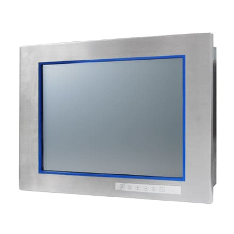 "15"" Stainless Steel XGA Industrial Monitor with Resistive Touchscreen"