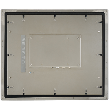 """15"""" XGA Industrial Monitor with Resistive Touch Control, Direct VGA, DP Ports, and 304 Stainless Steel Front Bezel"""