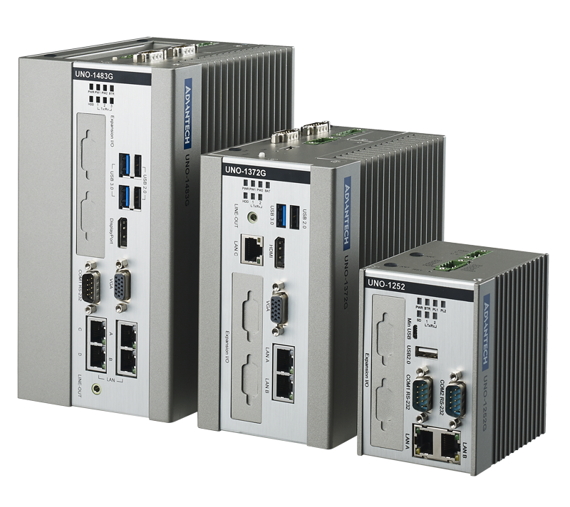 Powerful DIN-rail PCs with PC/104: UNO-1100