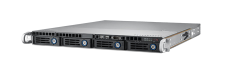 1U Rackmount Server Chassis for ATX/MicroATX Motherboard with 4 Hot-Swap HDD Trays, PCIe x16  & 400W RPS