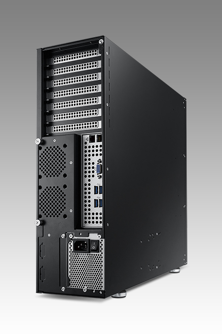 Compact 3U Chassis for ATX/EATX Motherboard with 4 SAS/SATA HDD Trays