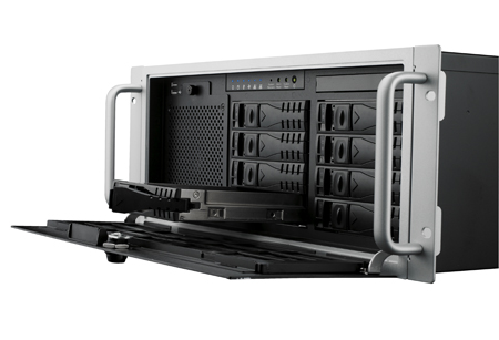 4U Rackmount Short-Depth Bare Chassis with Motherboard Support, 4 Mobile HDD, 80 PLUS PSU Support
