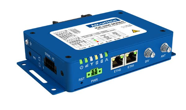 Industrial IoT 4G LTE Router & Gateway, NAM, 2x ETH, 1x RS232, 1x RS485, GNSS Receiver, WIFI, Metal, No ACC