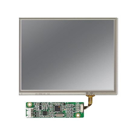 "5.7"" 640X480 VGA 500nits with 4-wire Resistive Touch Display Kit"