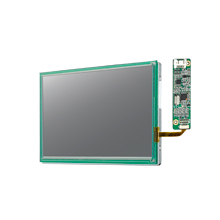 "7"" 1024x600 LVDS 500nits -20~70℃ LED 6/8-bit with 4-wire Resistive Touch Display Kit"