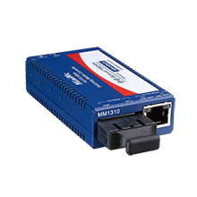 Miniature Media Converter, 100Base-TX/FX, Multi-mode 850nm, LFPT, 2km, ST type