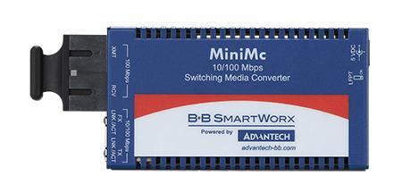 Mini Media Converter, 100Mbps, Multimode 1300nm, 5km, ST, AC adapter