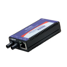 Miniature Media Converter, 100Base-TX/FX, Multi-mode 1300nm, 5km, ST type, w/ AC adapter (renaming to IMC-350-MMST-PS)