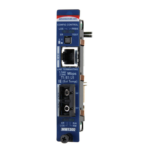 Intelligent  Modular Media Converter, Wide Temp, DS1, Single-Mode 1310nm, 5km, SC type (also known as iMcV 850-18106)