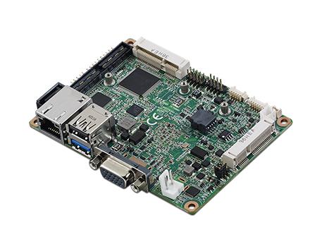 2.5寸Pico-ITX主板,搭载Intel<sup>®</sup> Atom™ SoC E3825/ J1900处理器的2.5寸Pico-ITX单板电脑,采用DDR3L内存,支持24-bit LVDS + VGA/HDMI独立双显,带有丰富I/O接口:1个GbE、半长Mini PCIe、4个USB、2个COM、SMBus、mSATA & MIOe